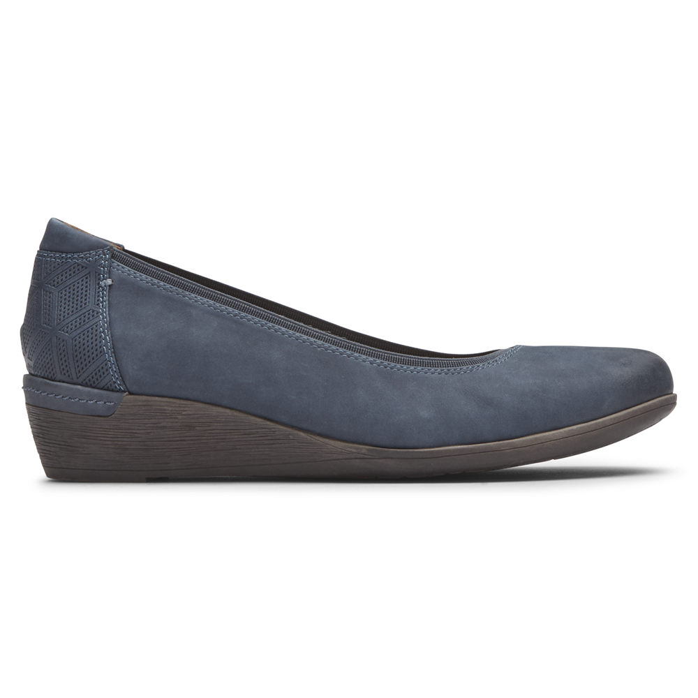 Rockport Pumper Dame Blå - Cobb Hill Devyn Wedge - PWQY91852